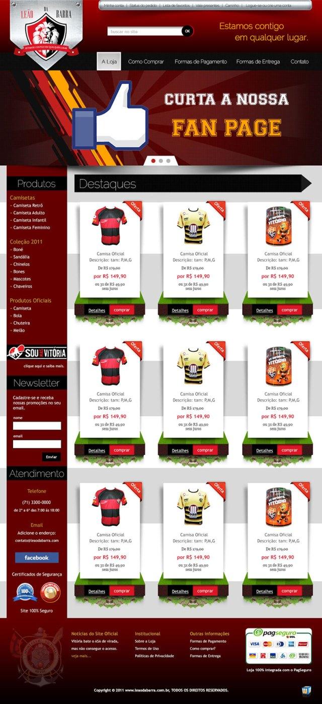 Exemplo de Criação de Loja Virtual (Layout)