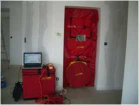 test blower door