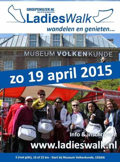 Kruip-door-sluip-door bij LadiesWalk in Leiden