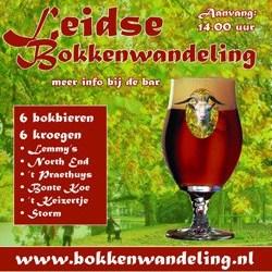 Eerste Bokkenwandeling in Leiden