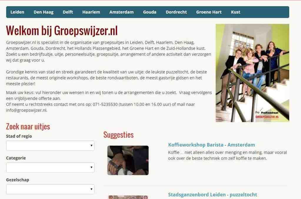 Nieuwe geavanceerde website voor Groepswijzer.nl