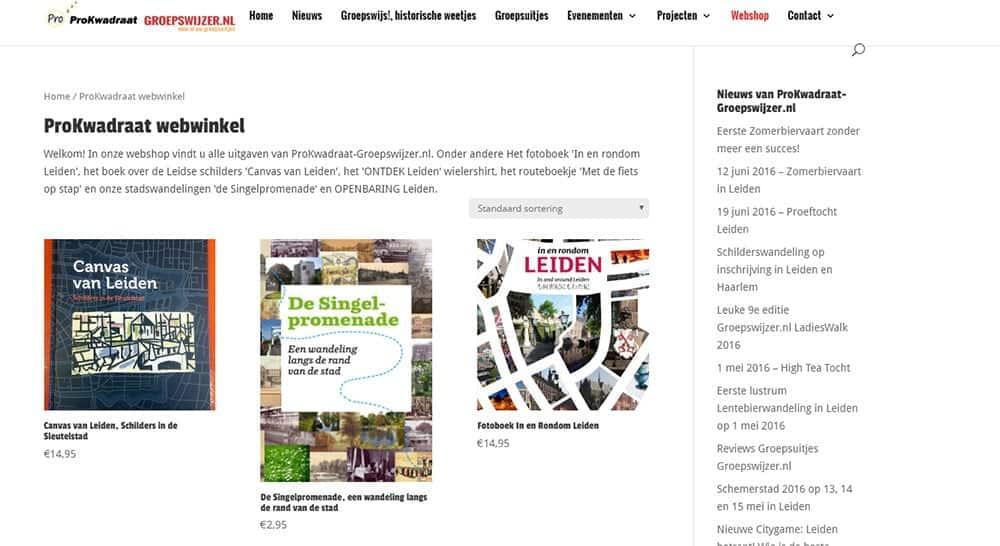 Nieuwe webwinkel voor ProKwadraat-Groepswijzer.nl