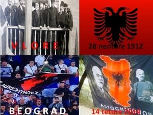 Ngritja e flamurit shqiptar