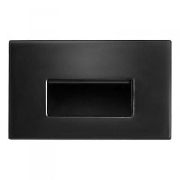 rab 3 watt horizontal recessed led step light 2700k 37 lumens 277v black