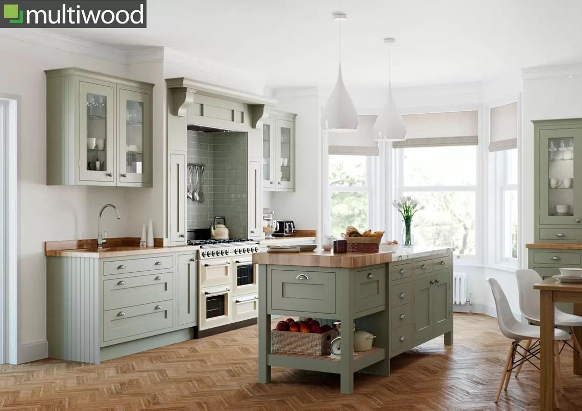 Multiwood Baystone Bespoke Colour Windsor Kitchen