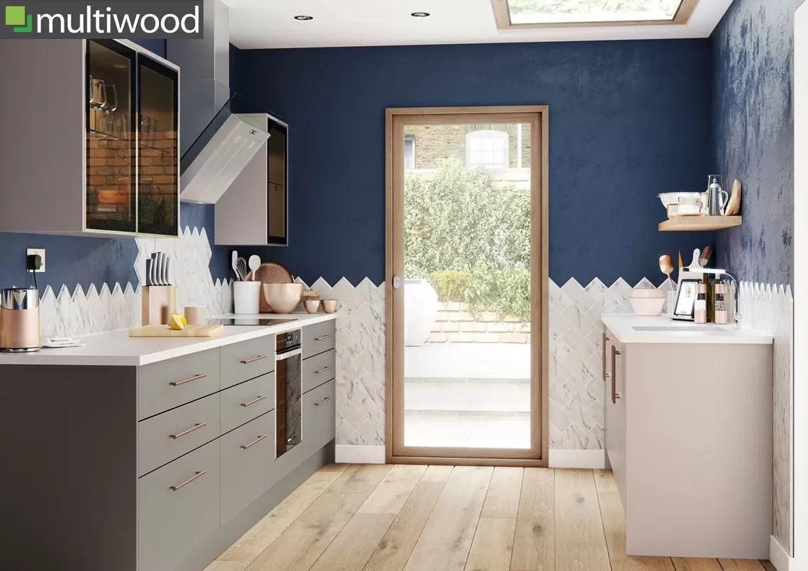 Multiwood Halton Grey Matt and Sahara Matt Kitchen