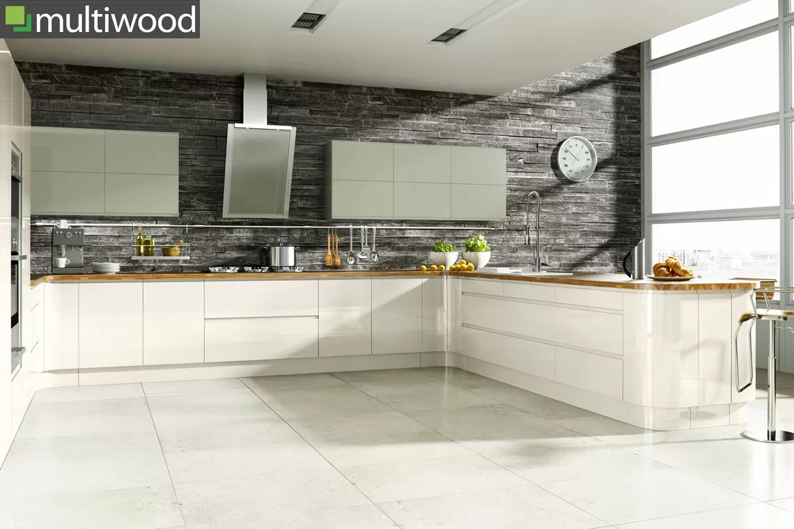 Multiwood Welford Cream with Willow Kitchen