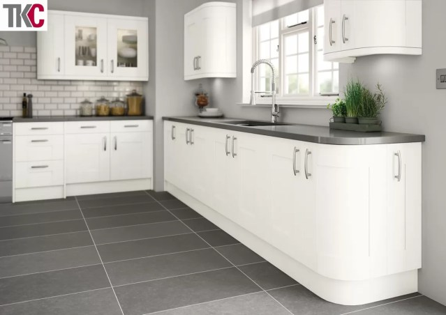 TKC Cartmel Hand Painted Super White Kitchen
