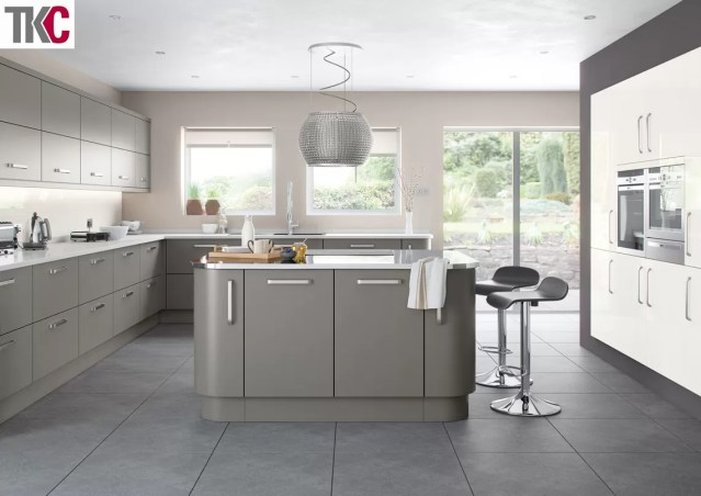 TKC Imola Hand Painted Dust Grey Kitchen