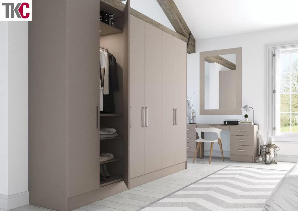 TKC Lastra Super Matt Stone Grey Bedroom