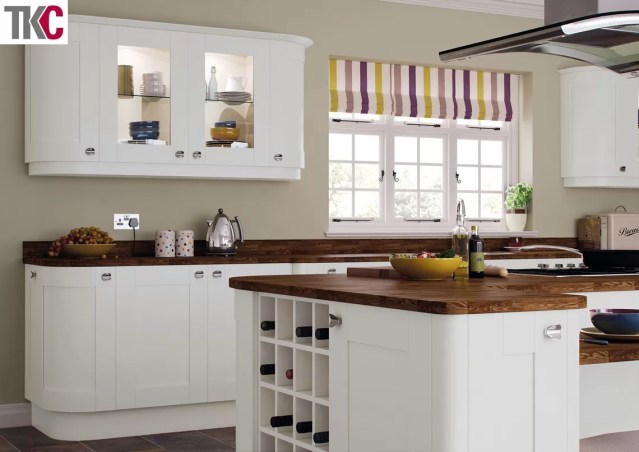 TKC Richmond Hand Painted Light Grey Kitchen