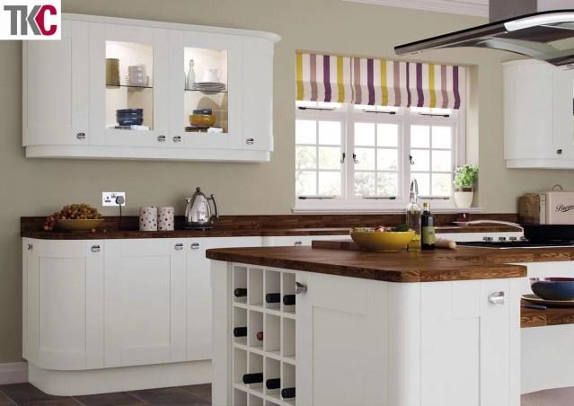 TKC Richmond Hand Painted Light Grey Kitchen