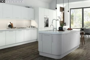 Trademouldings Aura White Kitchen