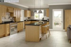 Trademouldings Buckingham Lissa Oak Kitchen