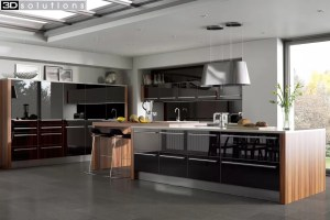 Trademouldings Odyssey Black Gloss Kitchen