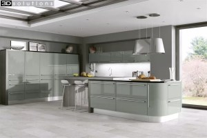 Trademouldings Odyssey Dakar Gloss Kitchen