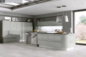 Trademouldings Odyssey Mussel Gloss Kitchen