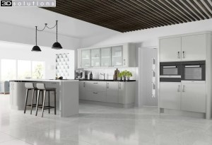 Trademouldings Sofia Matt Dove Grey Kitchen