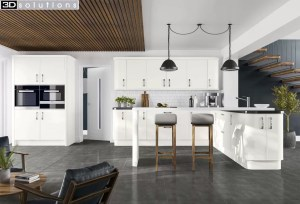 Trademouldings Sofia Matt White Kitchen