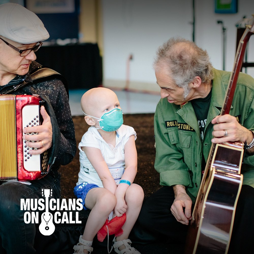 Young cancer patient connecting with Musicians on call
