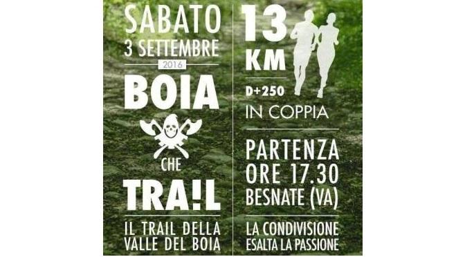"""Prima edizione della corsa podistica """"Boia che trail"""""""