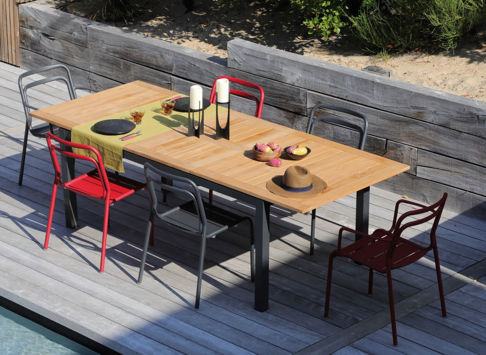 table tempo 180 240 cm 6 assises eos