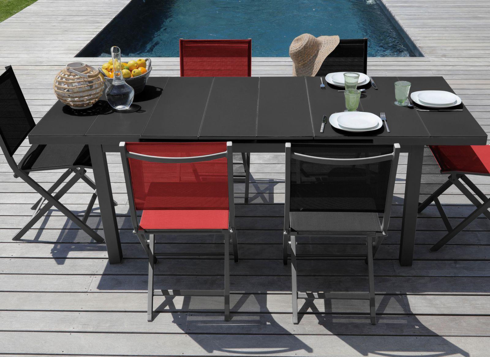 table ondine 160 213 cm 6 chaises thema