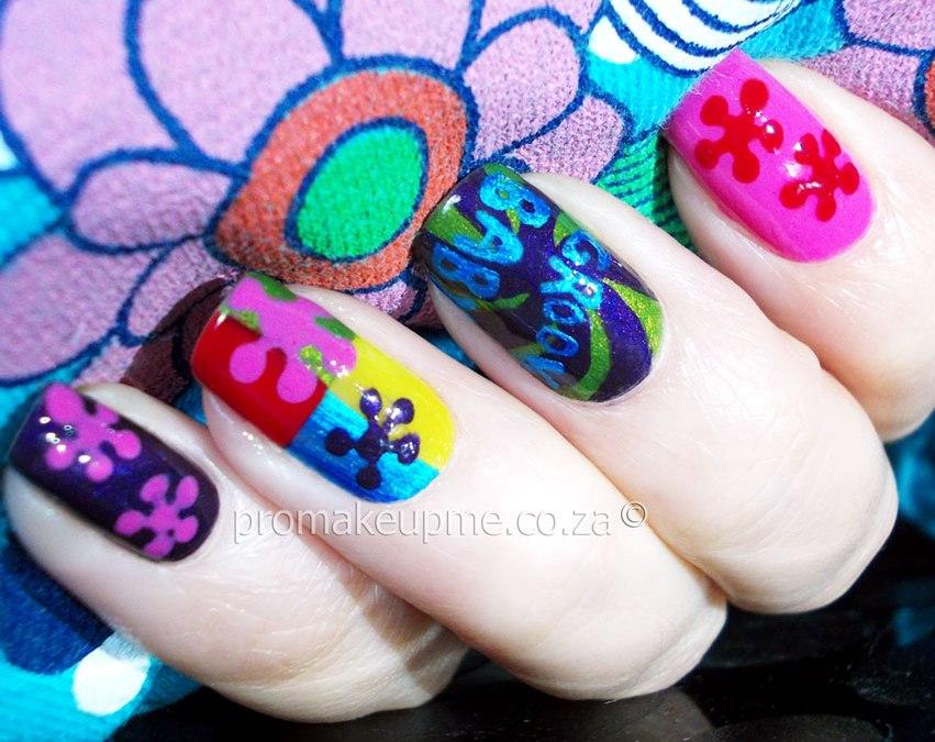 Spring Austin Powers Nail Art