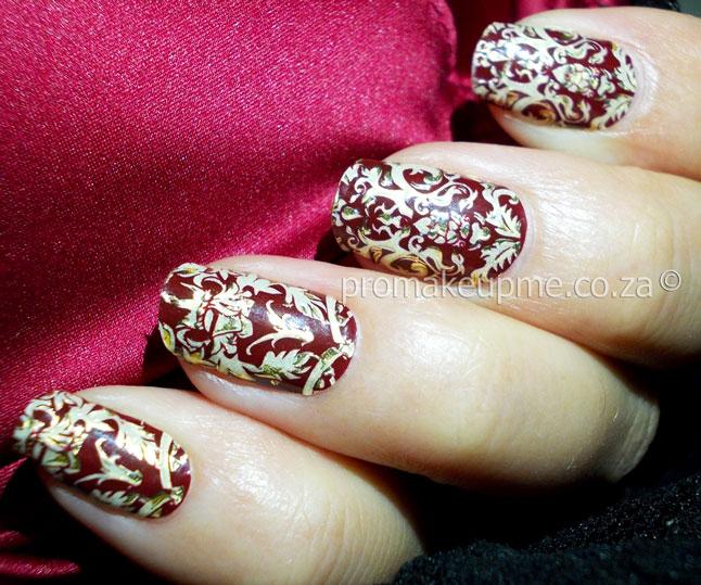 Revlon Appliques Royal Burgundy Nail Art