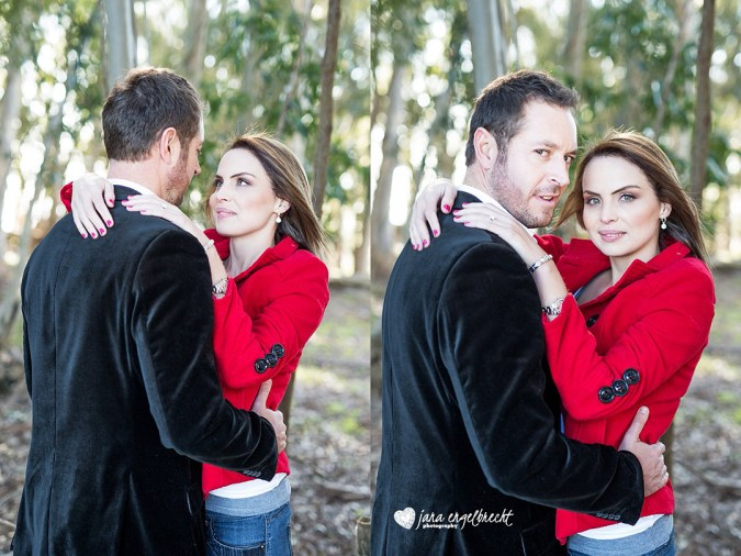 Cindy Engagement Shoot MakeUp Red Jacket
