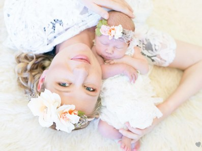 Chanele Newborn Shoot MakeUp Flower Crown