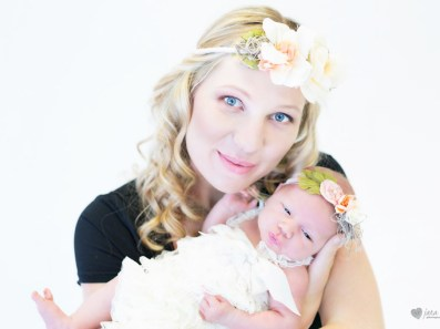 Chanele Newborn Shoot MakeUp Flower