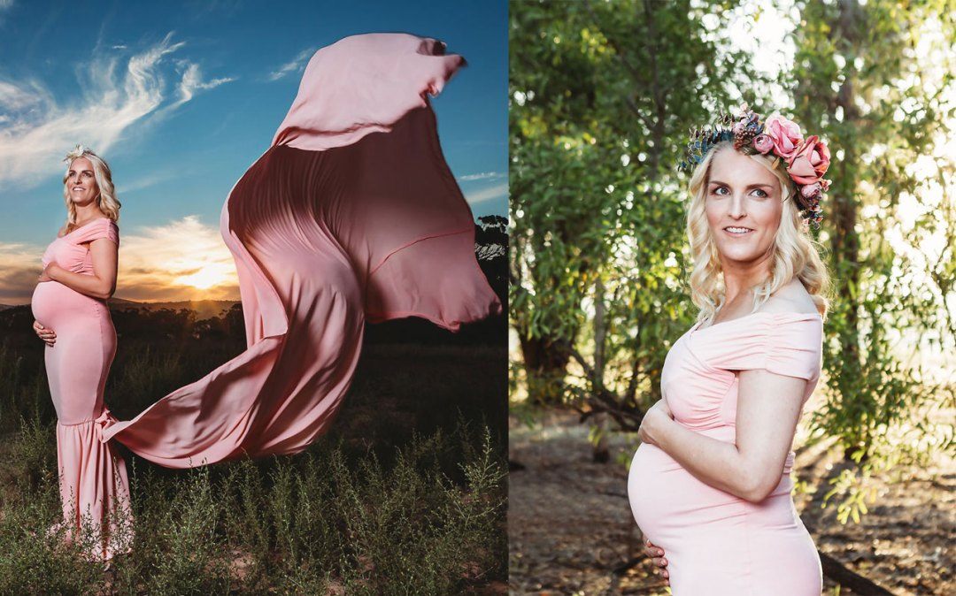 Nora Johnson Maternity Shoot MakeUp Feature