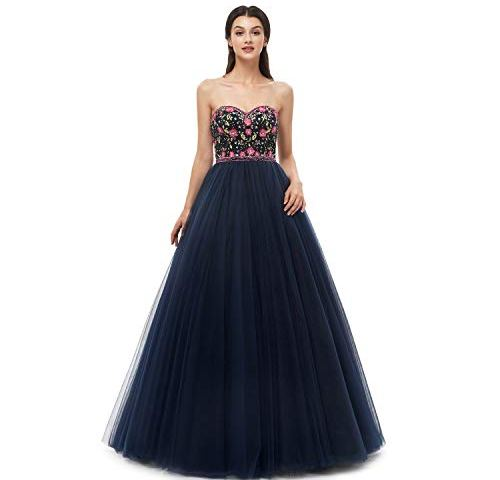 0c24bc75d98e Leyidress Ball Dresses Quinceanera Dress Sweet 16 Dress Embroider Long Prom  Dresses for Women