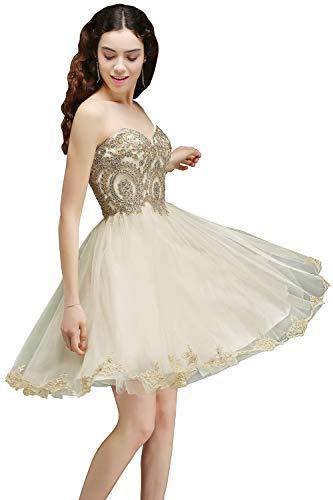 HONGFUYU Womens Elegant Strapless Tulle Wedding Dresses Bridal Ball Gowns
