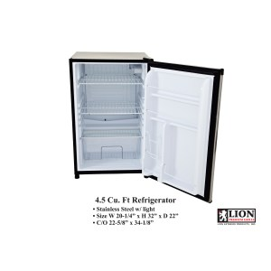 Lion 4.5 CU Ft. Stainless Steel Compact Fridge