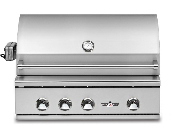 delta heat gas grill with rotisserie