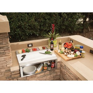 Alfresco 30′ Pizza Prep and Garnish Center