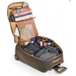 bagage cabine a roulettes avec poche pour reflex et ordinateur
