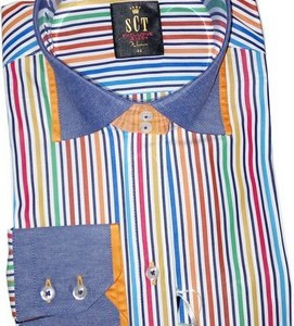 chemise multicolore femme + parfum class offert