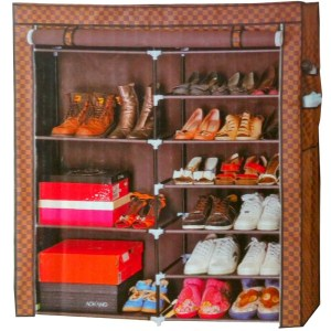Meuble de rangement chaussure à deux cabines 11 étagères jusqu'à 30 paires
