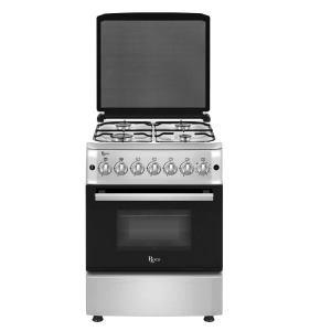 Cuisinière à gaz électrique Inox 4 feux Roch