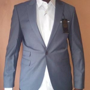 Ensemble costume bleu slim fit Super 200s taille 48