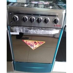 Cuisinière 4 feux Astech en inox 60x60