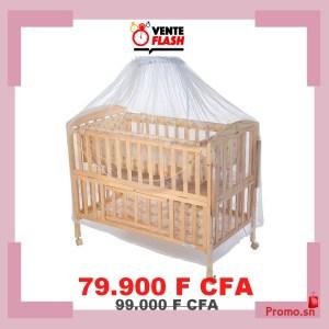 Berceau en bois ajustable avec moustiquaire pour bébé 0-5 ans