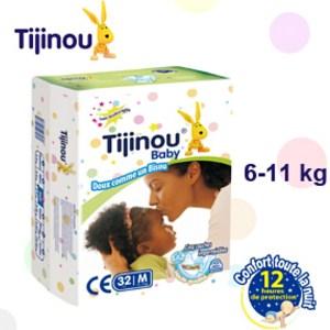 Couches Bébé 32 pièces Tijinou 2e age 6/11kg