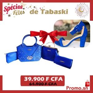 Ensemble sac à main bleu plus escarpin bleu
