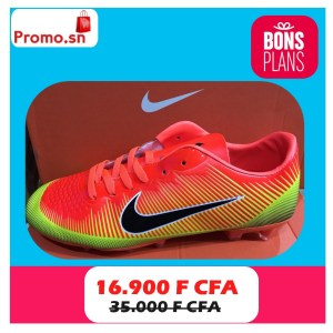 Godasse Football Nike orange vert