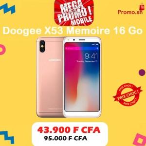 Doogee X53 Memoire 16 Go Ram 1 Go Original Dual Sim Ecran 5.3 pouces MPM