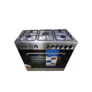 Cuisinière 5 feux Tecnolux dimension 90x60 Inox